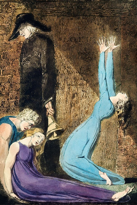 Man supporting a supine woman Poster Print by William Blake # 54781