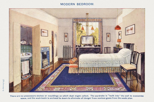 Modern bedroom Poster Print by Mrs. Beeton''s Book of Household Management Mrs. Beeton''s Book of Household Management # 54722