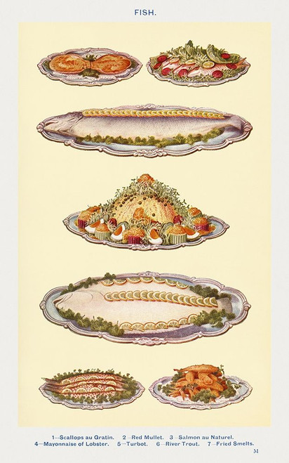 Fish IV Poster Print by Mrs. Beeton''s Book of Household Management Mrs. Beeton''s Book of Household Management # 54712