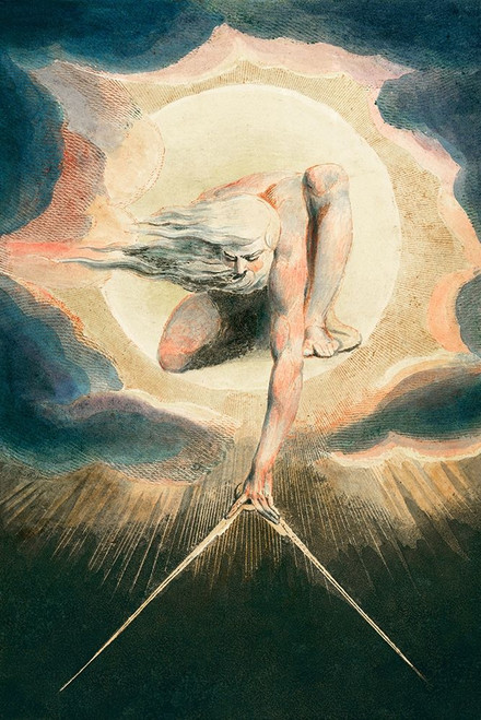 Ancient of Days Setting a Compass to the Earth Poster Print by William Blake # 54771