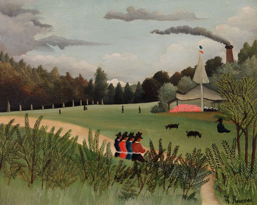 Landscape and Four Young Girls 1895 Poster Print by Henri Rousseau # 54851