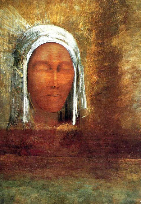 Virgin of the Dawn Poster Print by Odilon Redon # 54642