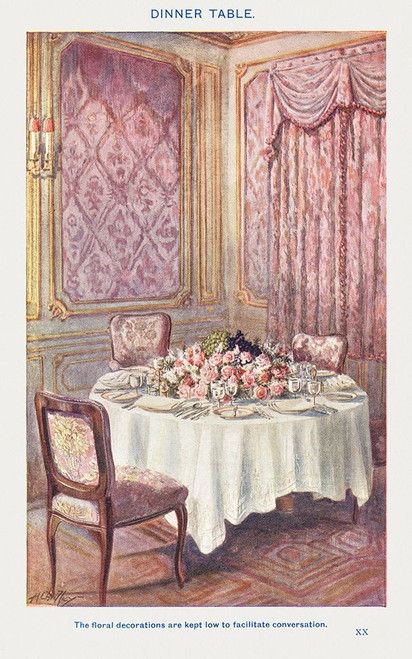 A Dinner Table�_ Poster Print by Mrs. Beeton''s Book of Household Management Mrs. Beeton''s Book of Household Management # 54697