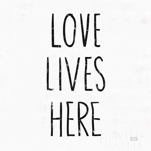 Love Lives Here Sq BW Poster Print by Michael Mullan # 54656