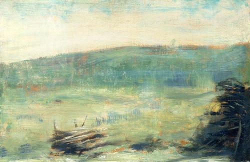 Landscape at Saint-Ouen�_ Poster Print by Georges Seurat # 53950