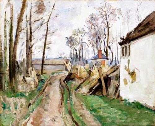 A Village Road near Auvers Poster Print by Paul Cezanne # 53845