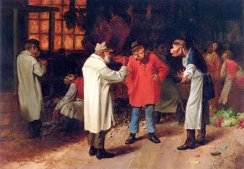 Politics in the Market Poster Print by William Holbrook Beard # 53264