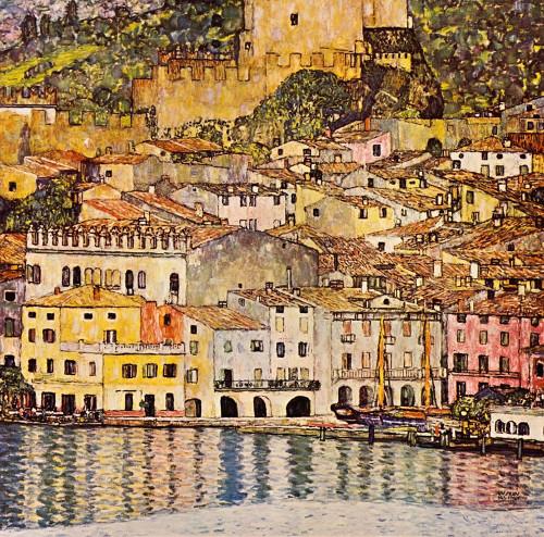 Malcesine On Lake Garda 1913 Poster Print by Gustav Klimt # 53311