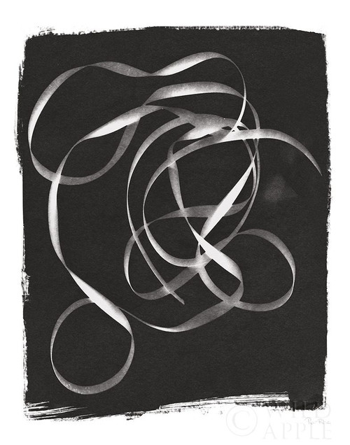 Nature By The Lake Ribbon II BW Poster Print by Piper Rhue # 53461