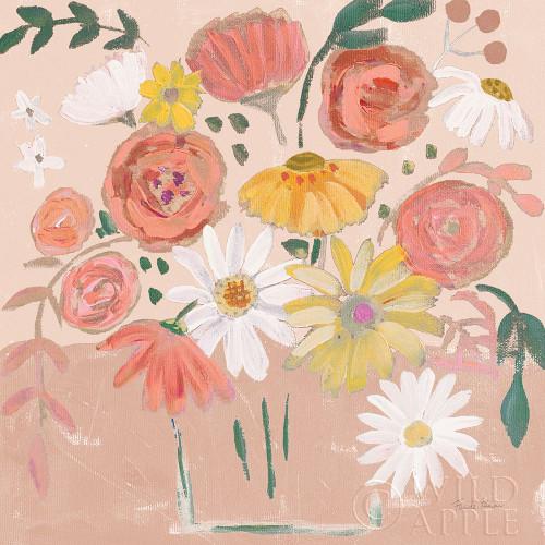 Folk Floral II Modern Poster Print by Farida Zaman # 53049