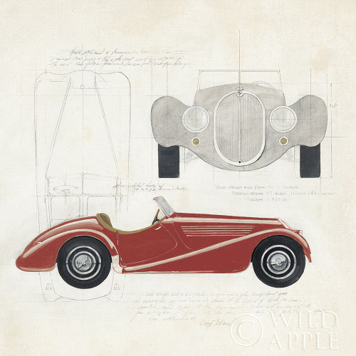 Roadster I Red Car Poster Print by Avery Tillmon # 53125