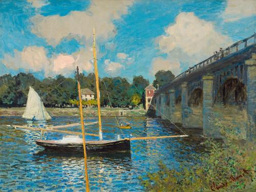 The Bridge at Argenteuil Poster Print by Claude Monet # 53133