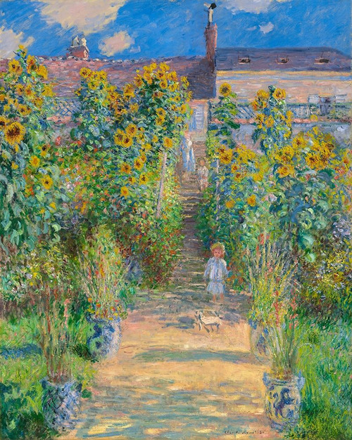 Garden of the artist at Vetheuil Poster Print by Claude Monet # 53107