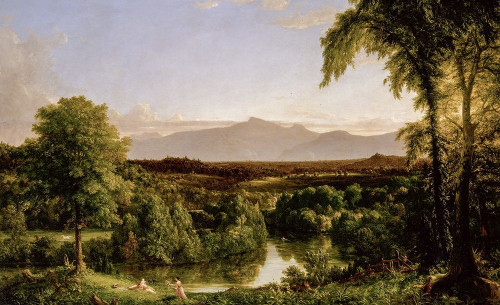 View on the Catskill_��Early Autumn Poster Print by Thomas Cole # 52888