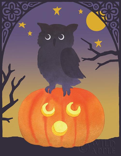 Halloween Critter III Light Owl Poster Print by Beth Grove # 52773