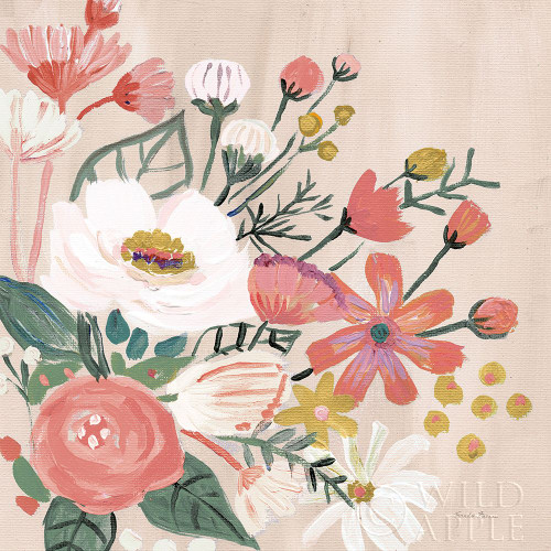 Vintage Floral II Modern Poster Print by Farida Zaman # 52774