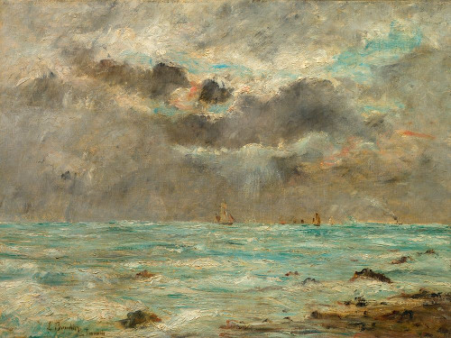 The Coast at Trouville Poster Print by After Eugene Boudin # 50556