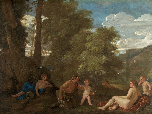 Nymphs and a Satyr Poster Print by Nicolas Poussin # 50694