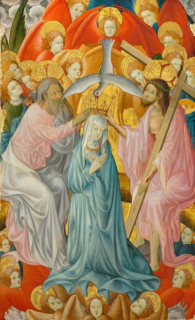 The Coronation of the Virgin with the Trinity Poster Print by Rubielos de Mora # 50618