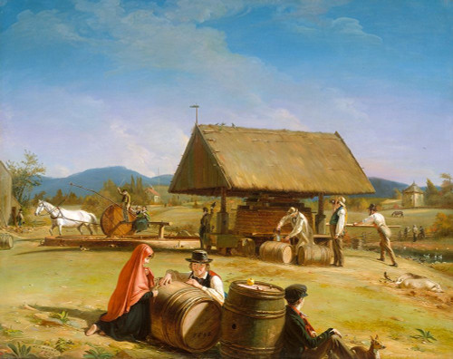 Cider Making 1841 Poster Print by William Sidney Mount # 50766