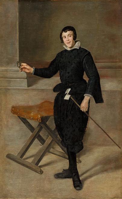 Portrait of the Jester Calabazas Poster Print by Diego Velazquez # 50666