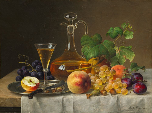 Still Life with Fruit Poster Print by Emilie Preyer # 50505