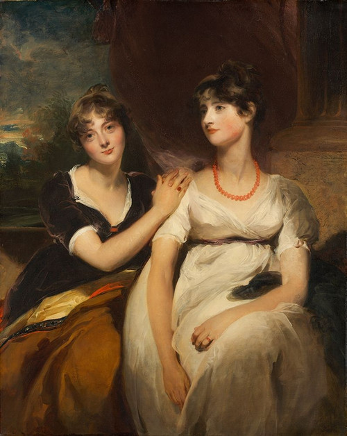 Portrait of Charlotte and Sarah Carteret-Hardy Poster Print by Thomas Lawrence # 50459