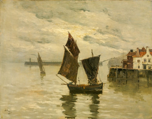 Harbor Scene Poster Print by Frank Boggs # 50303