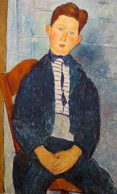 Boy in a striped Sweater, 1918 Poster Print by Amedeo Modigliani # 50931
