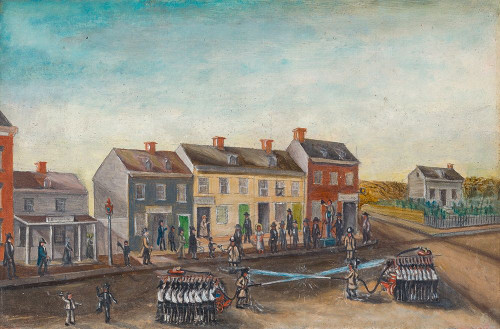 Firemens Washing Day Poster Print by William P. Chappel # 50874