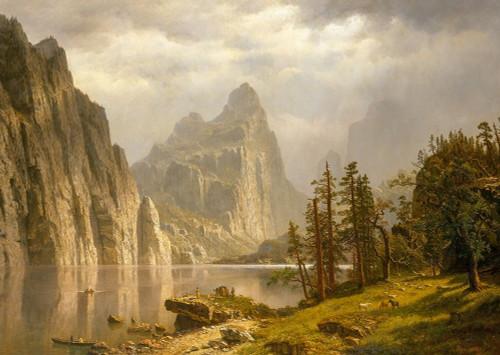Merced River, Yosemite Valley Poster Print by Albert Bierstadt # 50844