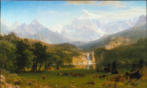 The Rocky Mountains, Landers Peak Poster Print by Albert Bierstadt # 50847