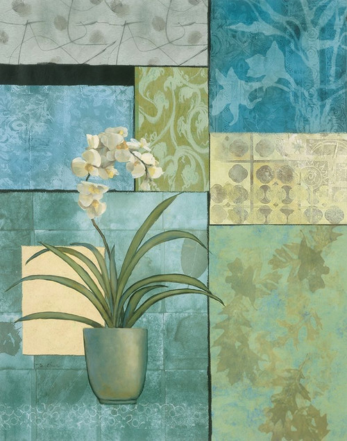 Aqua Blue Orchid Collage Poster Print by Unknown Unknown # 4994