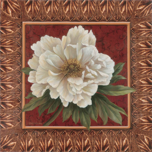 Peony in redGold Poster Print by Unknown Unknown # 4976