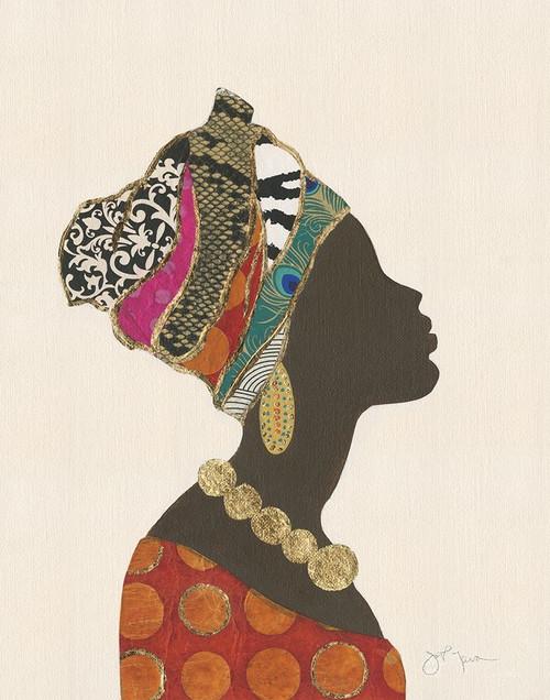 African Silhouette Woman I Poster Print by Tava Studios Tava Studios # 43743