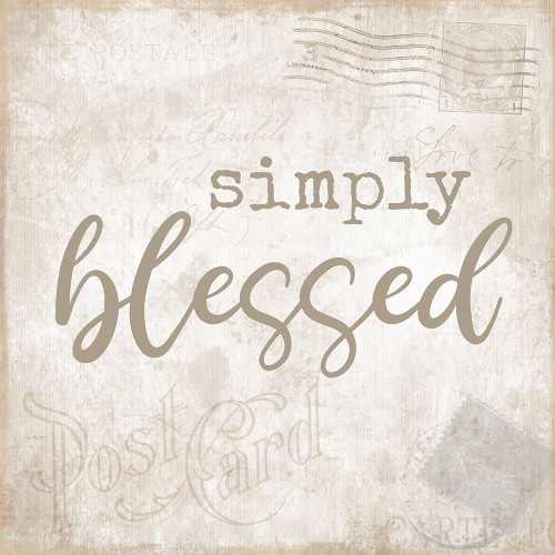 Designs - Postcard Blessed Poster Print by CAD Designs CAD Designs # 43638