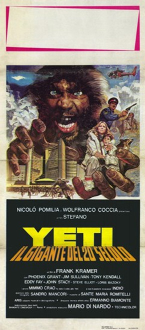 Yeti the Giant of the 20Th Century Movie Poster (11 x 17) - Item # MOV228153