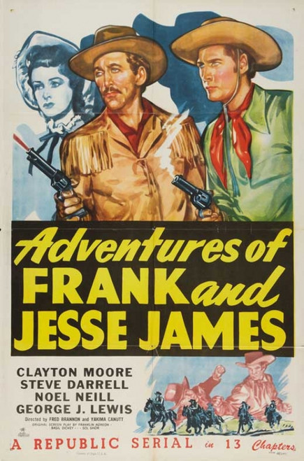 American Bandits: Frank and Jesse James Movie Poster Print (27 x 40) - Item # MOVCB38833