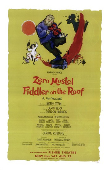 Fiddler on the Roof (Broadway) Movie Poster (11 x 17) - Item # MOV407174