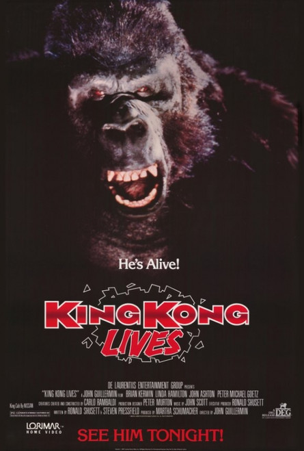 King Kong Lives Movie Poster Print (27 x 40) - Item # MOVEF3959