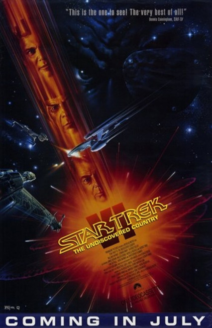 Star Trek 6 The Undiscovered Country Movie Poster (11 x 17) - Item # MOV243544