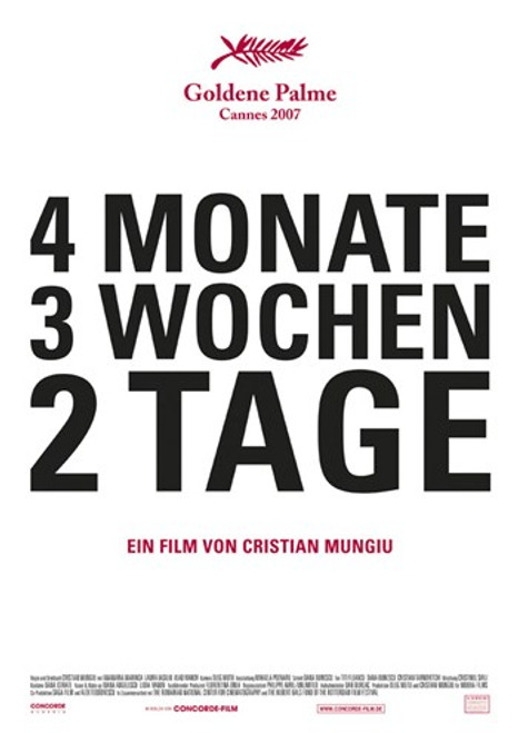 4 Months, 3 Weeks, and 2 Days Movie Poster (11 x 17) - Item # MOV414440