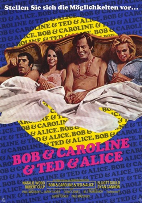 Bob and Carol and Ted and Alice Movie Poster (11 x 17) - Item # MOV206303