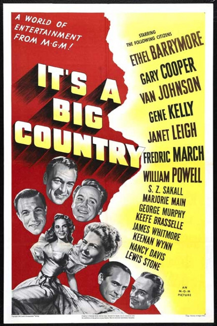 It's a Big Country Movie Poster Print (27 x 40) - Item # MOVAB61043