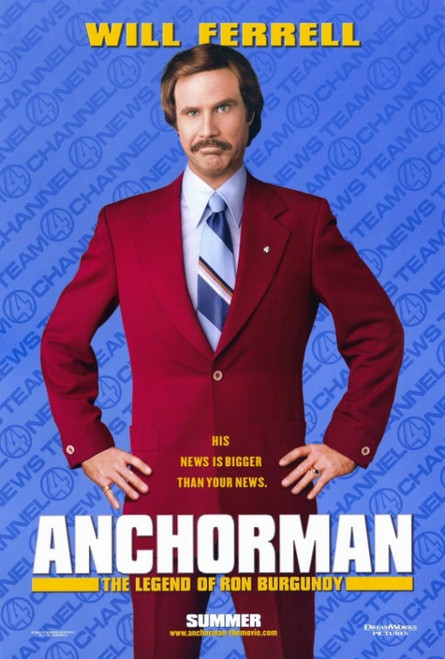 Anchorman: The Legend of Ron Burgundy Movie Poster Print (27 x 40) - Item # MOVEF3203