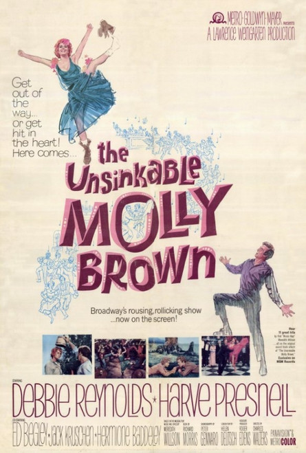 The Unsinkable Molly Brown Movie Poster Print (27 x 40) - Item # MOVEF9302