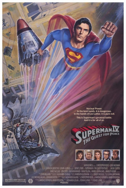 Superman 4: The Quest for Peace Movie Poster Print (27 x 40) - Item # MOVCF9395