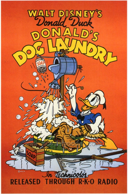 Donald's Dog Laundry Movie Poster Print (27 x 40) - Item # MOVCF7293
