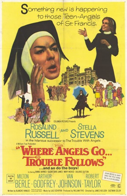 Where Angels Go Trouble Follows Movie Poster (11 x 17) - Item # MOV248986