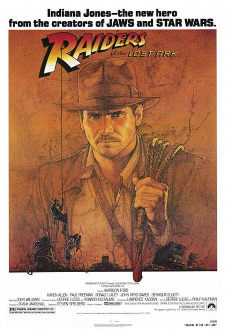 Raiders of the Lost Ark Movie Poster Print (27 x 40) - Item # MOVIF4423